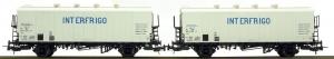LSM 32102 Набор вагонов Icefs INTERFRIGO SNCB Epoche IV 1/87