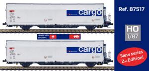 Mabar 87517 Набор вагонов Hbbills SBB-Cargo SBB Epoche VI 1/87