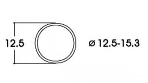 Roco 40075 Бандажи для колёс 12,5–15,3mm 10шт 1/87
