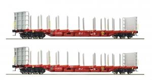 Roco 76141 Набор платформ Rnoos uz-3523 Rail Cargo Austria OBB Epoche VI 1/87   Roco_76141.jpg