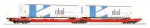 Roco 77386 Вагон платформа Sdggmrs DB AG Epocha VI 1/87   Roco_77386.jpg