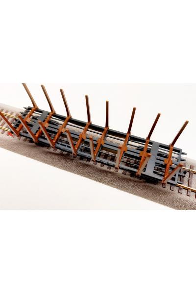 Peresvet 53821 Вагон платформа 13-401 со стойками СЖД эпоха IV 1/87