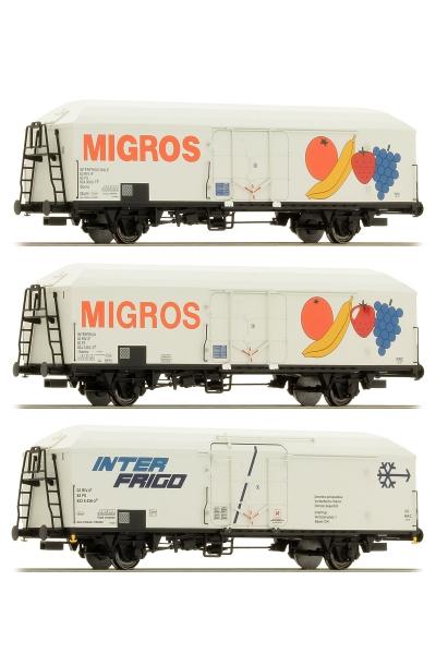ACME 45072 Набор вагонов 3шт MIGROS FS Epoche V 1/87