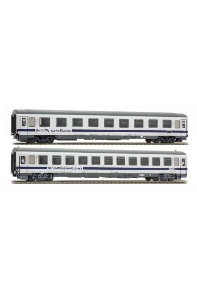 ACME 55095 Набор пассажирских вагонов 2шт.Avmz 108.7 Bmnouz Berlin Warsawa Express DB PKP Epoche VI 1/87