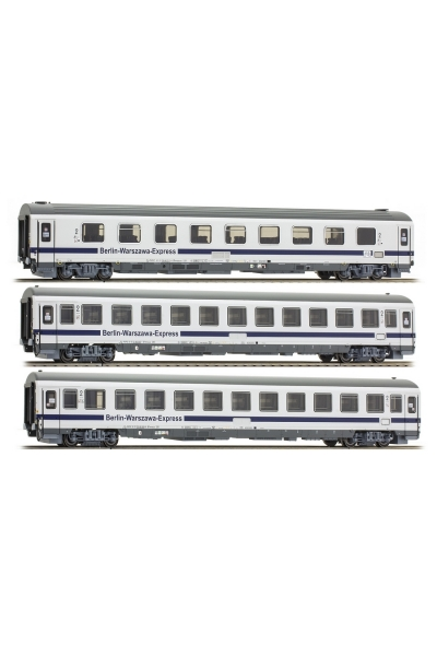 ACME 55096 Набор пассажирских вагонов 3шт.Bmnouz,Bmnopuvz,Bdimnu  Berlin Warsawa Express DB PKP Epoche VI 1/87