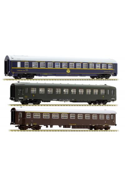 ACME 55131 Набор пассажирских вагонов Roma Express FS Epoche III 1/87