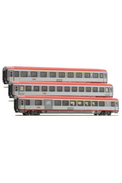 ACME 55143 Набор пассажирских вагонов EC 84 Bologna-Munich OBB Epoche VI 1/87