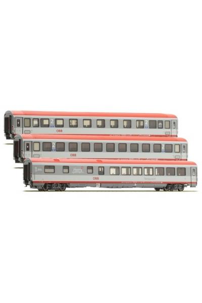 ACME 55144 Набор пассажирских вагонов EC 84 Bologna-Munich OBB Epoche VI 1/87