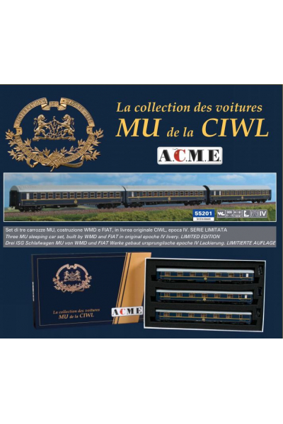 ACME 55201 Набор вагонов MU WMD+FIAT Werke CIWL Epoche IV 1/87