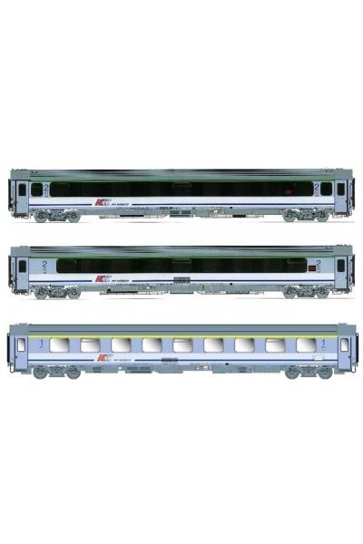 ACME 90033 Набор пассажирских вагонов 3шт IC CHROBRY Warszawa-Szczecin  Epoche V 1/87