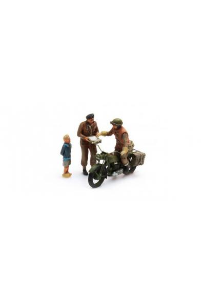 Artitec 387.131 Мотоцикл UK Triumph+3 фигуры Epoche II 1/87