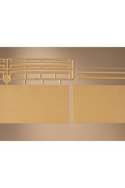 Auhagen 41207 Кирпичные стены с кантами 2шт (жёлтый) Н0