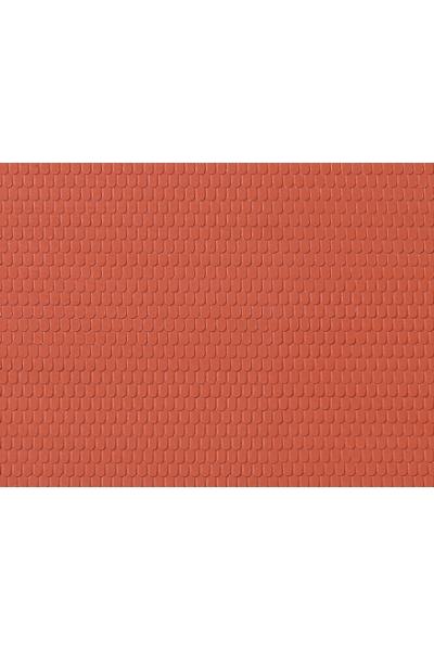 Auhagen 52416 Декоративная панель крыша черепичная (красная) 200 x 100мм Н0/ТТ