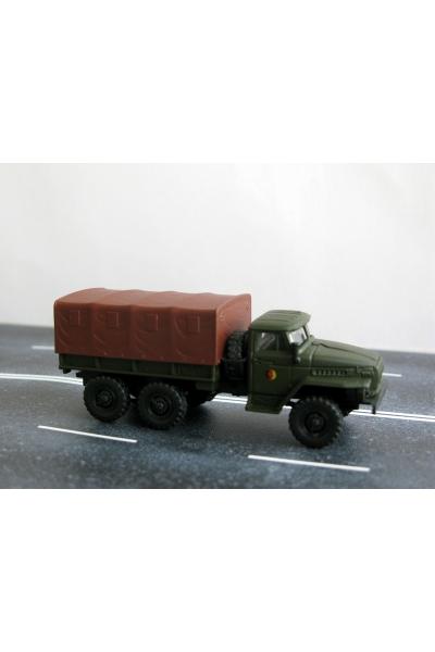 Auto 221036 автомобиль Урал бортовой тент 1/87
