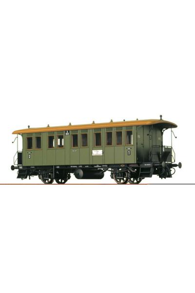 Brawa 2400 Вагон пассажирский A 812 1/2 класса K.W.St.E. Epoche I 1/87