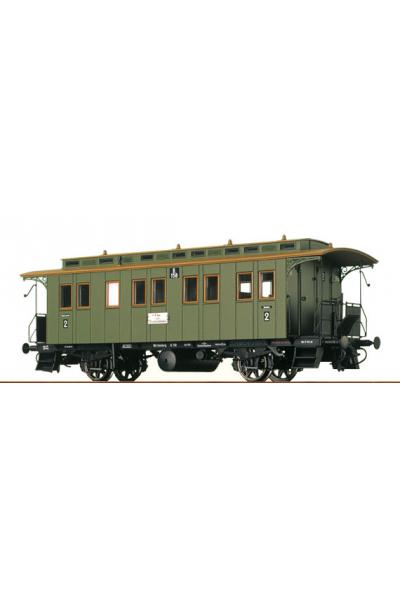 Brawa 2401 Вагон пассажирский B 158 2 класса K.W.St.E. Epoche I 1/87