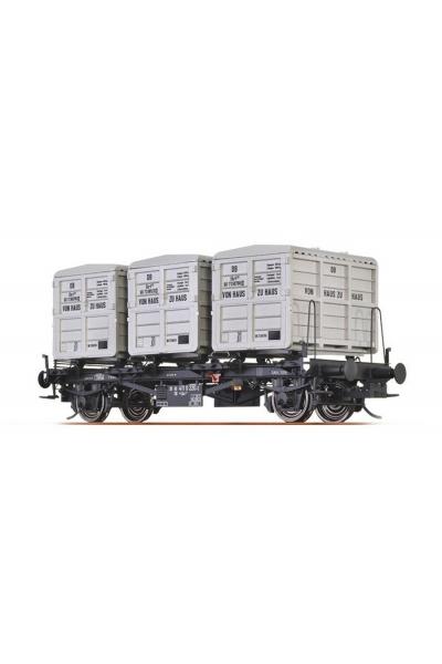 Brawa 37155 Вагон с контейнерами Lbs 577 DB IV 1/45