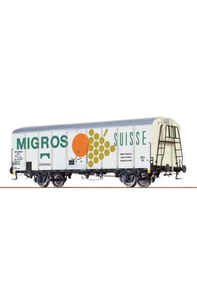 Brawa 37203 Вагон UIC 563 946 P Standard 1 Migros SBB Epoche III 1/45
