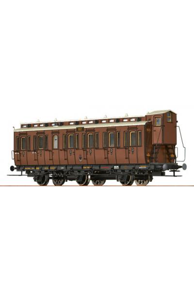 Brawa 45451 Вагон пассажирский C3 Essen 1601 K.P.E.V. Epoche I 1/87