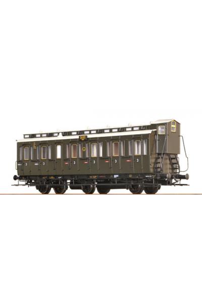 Brawa 45452 Вагон пассажирский C3 Pr 11 Halle 59865 DRG Epoche II 1/87