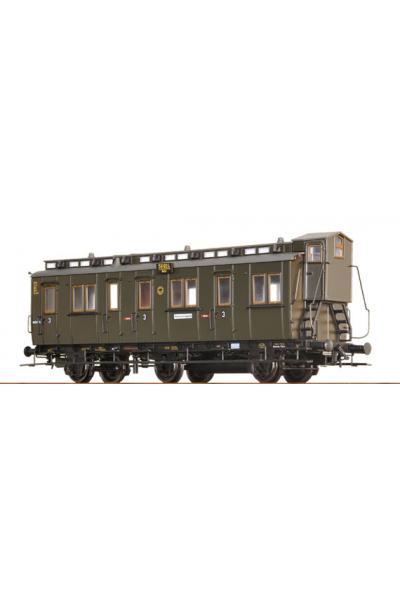 Brawa 45453 Вагон пассажирский C3tr Pr 13 Halle 59924 DRG Epoche II 1/87