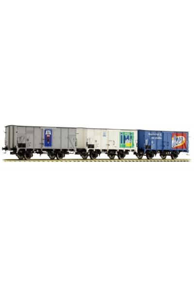 Brawa 45906 Набор вагонов G10 3шт DB Epoche IV 1/87