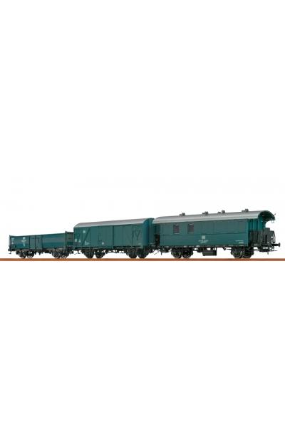 Brawa 45982 Набор вагонов Bauzug DB Epoche III-IV 1/87