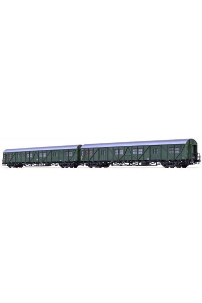 Brawa 46252 Набор багажных вагонов MPw4yge-57+MPw4ie-50 DB Epoche III 1/87