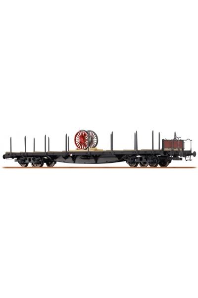 Brawa 47233 Вагон платформа Sslma 44 Brit. US-Zone Epoche III 1/87