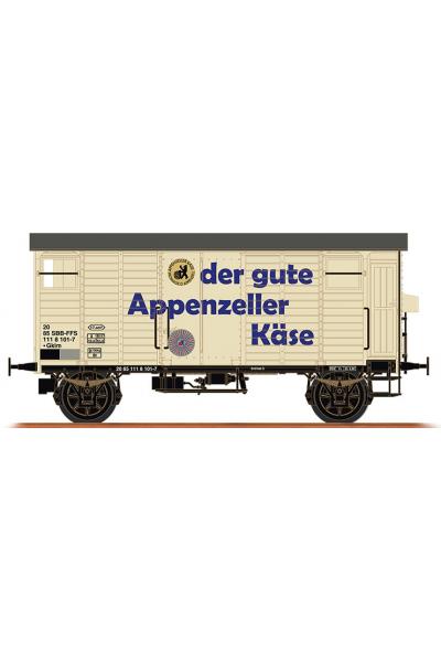 Brawa 67863 Вагон K2 20 85 111 8 101-7 Appenzeller Kase SBB Epoche IV 1/160
