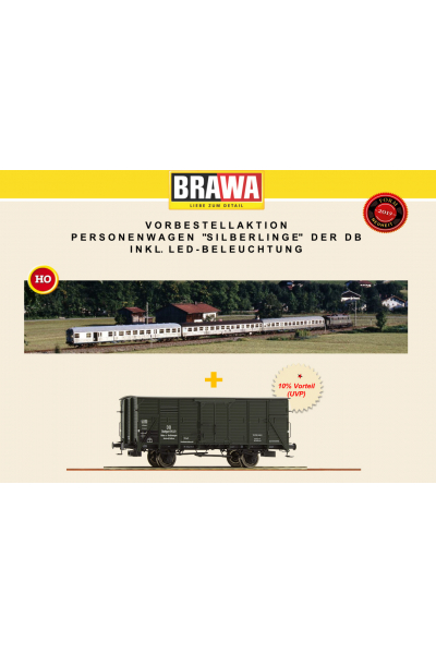 Brawa B1913 Набор пассажирских вагонов DB AG Epoche VI 1/87