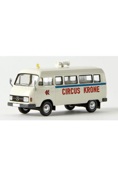 Brekina 13255 Автомобиль MB L 206 D Kombi Circus Krone 1/87