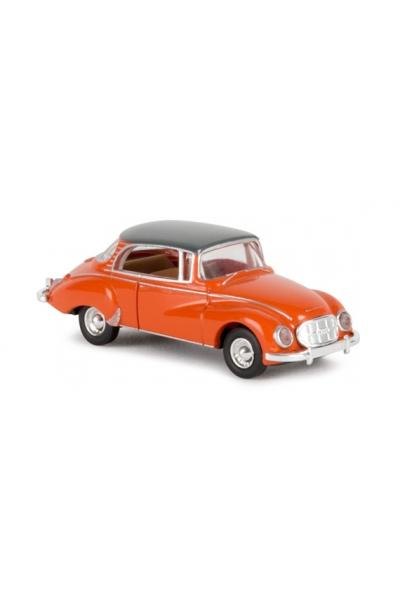 Brekina 28020 Автомобиль Auto Union 1000 S Coupe оранжевый 1/87