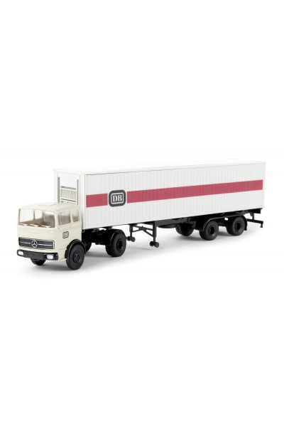 Brekina 81042 Автомобиль MB LPS1620 40ft Container-SZ DB 1/87