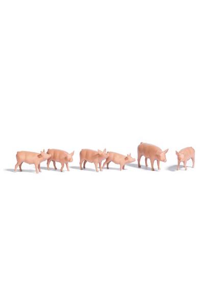 Busch 1172 Набор свиньи чистые 6шт 1/87