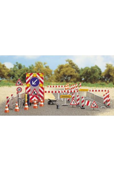 Busch 6048 Набор знаков ремонт дороги 1/87