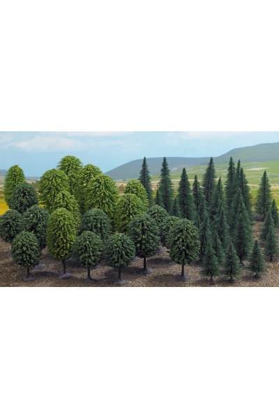 Busch 6491 Набор деревьев 50шт 50-125мм H0/TT