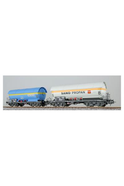 ESU 36529 Набор вагонов ZAG 620 Wacker+Sano-Propan DB Epoche IV 1/87
