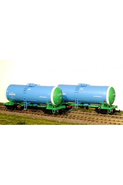 Eurotrain 0015 Набор цистерн нефтепродукты 2шт РЖД эпоха V 1/87