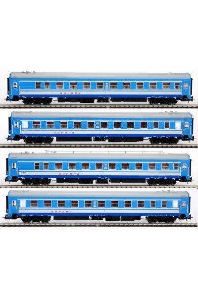 Eurotrain  0213  Набор пассажирских вагонов АВРОРА СЖД эпоха IV 1/87