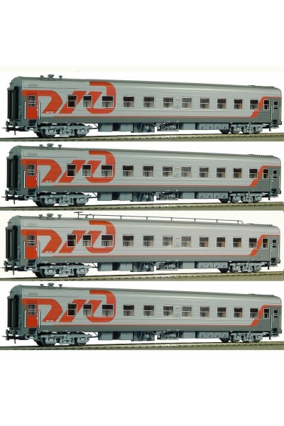 Eurotrain 0214 Набор пассажирских вагонов РЖД Эпоха V 1/87
