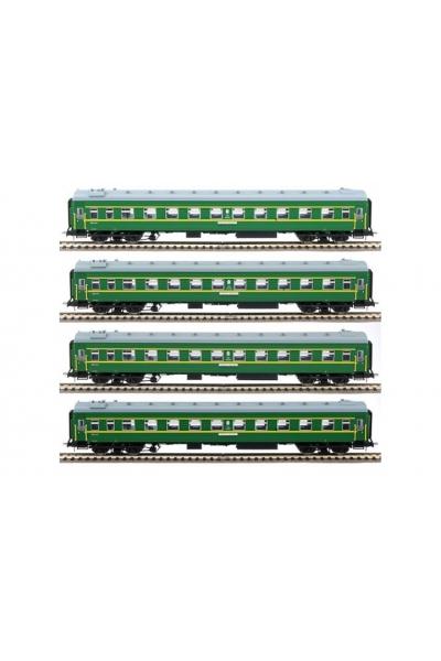 Eurotrain 0240 Набор плацкартных вагонов Москва-Иваново СЖД эпоха III-IV 1/87