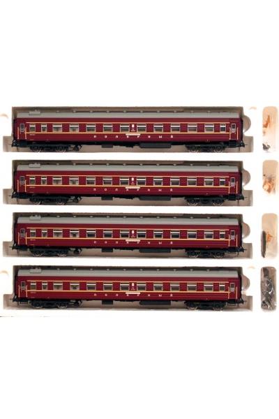 Eurotrain 0241 Набор плацкартных вагонов ПОЛЯРНЫЙ ОК ЖД эпоха III-IV 1/87
