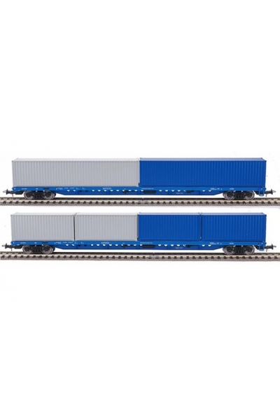 Eurotrain 1012 Набор платформ с контейнерами 2шт РЖД эпоха V 1/87