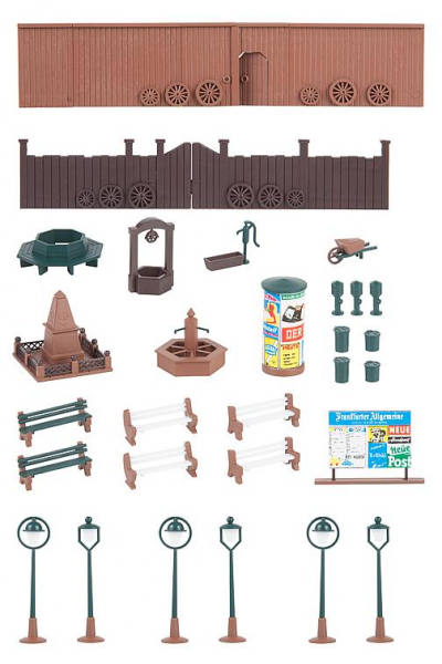 Faller 131373 Аксессуары деревенской площади 1/87