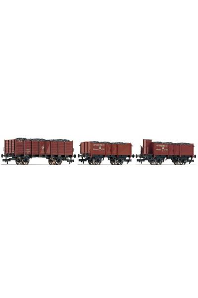 Fleischmann 521204 Набор вагонов K.P.E.V. Epoche I 1/87