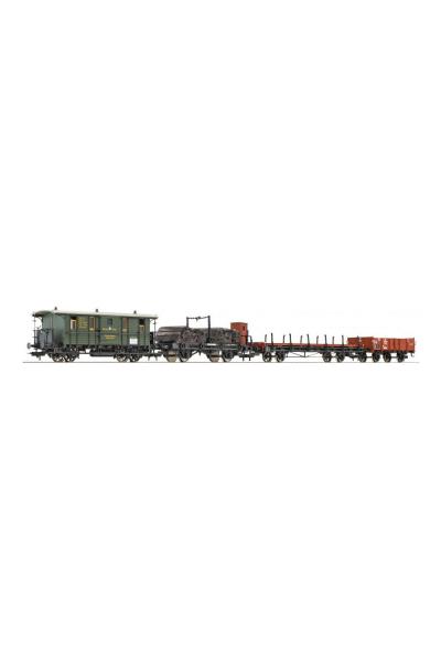Fleischmann 580908 Набор вагонов DRG (Bayerischer Bauzug) Epoche II 1/87