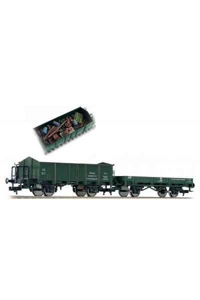 Fleischmann 591002 Набор вагонов Mullwagen DB Epoche IV 1/87 VN