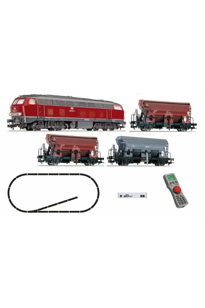 Fleischmann 631681 Цифровой стартовый набор z21 тепловоз BR218 + 3 вагона DB Epoche IV 1/87 RO