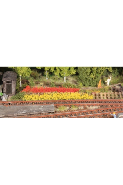 Heki 1819 Набор полоски травы 8шт 100мм 10мм жёлтый красный